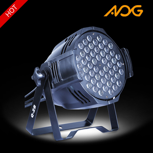 54 x 3w quad color led par light guangzhou stage light with 8 channels
