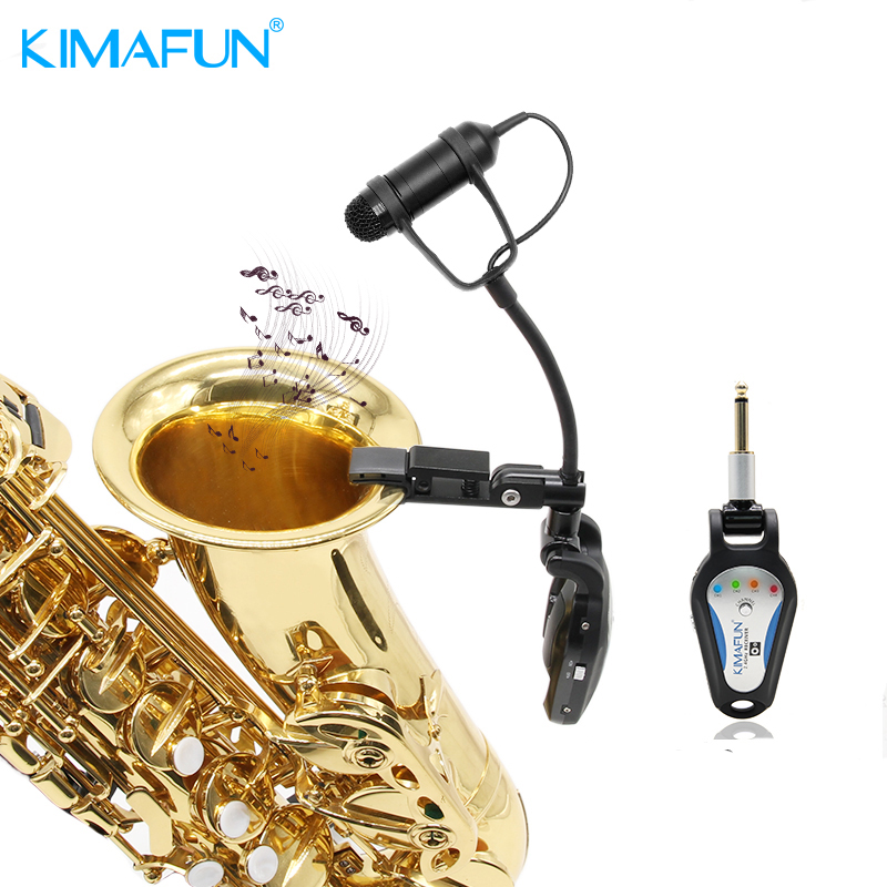 Professional KIMAFUN 2.4G Wireless Saxophone Microphone Instrument Gooseneck Microphone KM-G306-3 фото