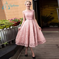 Cap Sleeve Lace Pearls Sashes Bow Plus Size Prom Dress