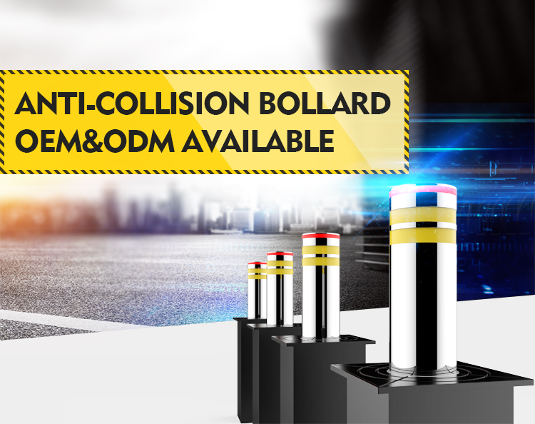 Stainless Steel Hydraulic Lifting Traffic Barrier Systems Automatic Control Bollard Column