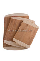 Wholesale Premium 2-Tone Bamboo Cutting Board and Butcher Block - 3 Pack Supply Promotion Product Cheese/Bread Cutting Board Set