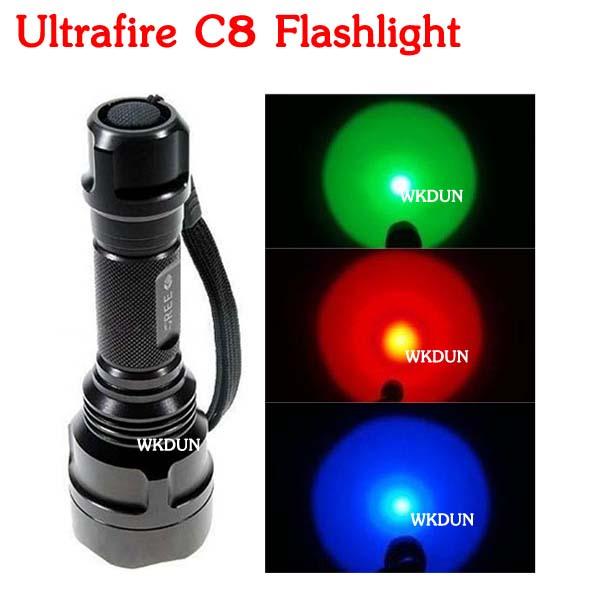 Ultrafire C8 1 Mode Cree Q5 Led 3w Green Light Hunting Led ...