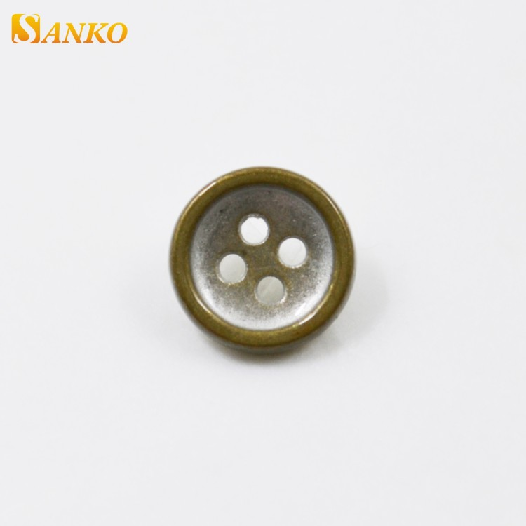Free sample t shirt men's sew type metal shank button