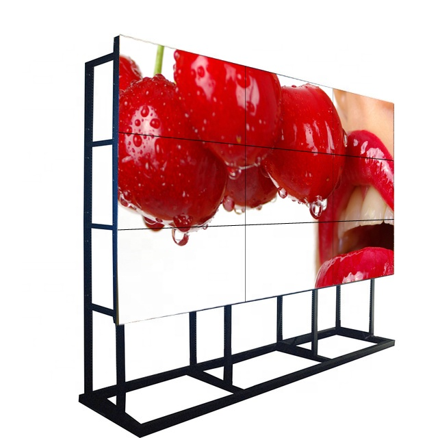 "55"" big screen indoor factory direct sale advertising 1.7mm super narrow  bezel  hd lcd video wall"