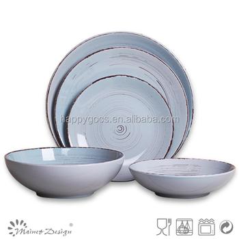 Günstige Blue Ceramic Dinner Set Große Serviergeschirr Hochzeit Geschirr Fabrik