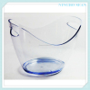 flashing led plastic ice gold ingot ice bucket wholesale for barware