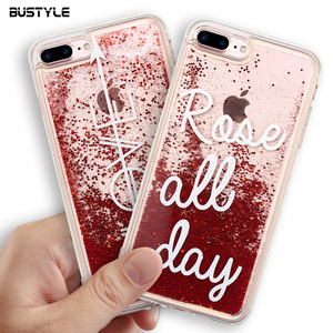 New Fashion Wholesale Mobile Phone Back Cover Customize Design Red Quicksand Glitter Phone Case for iPhone for Samsung