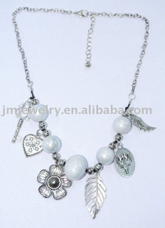 Beautiful flower pearl costume pearl beads necklace J.M.N-1254