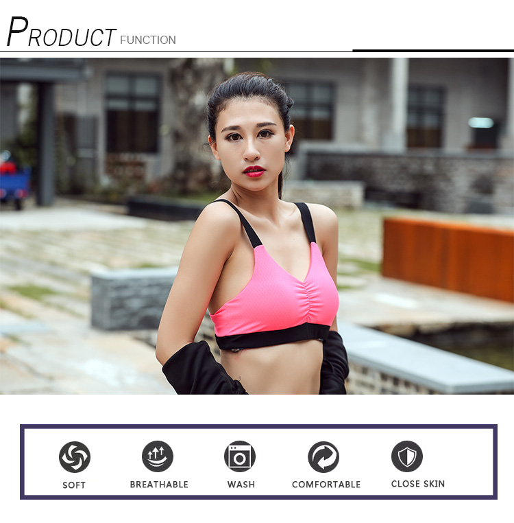 Custom Outdoor Sport Training Innerlijke Kleding Sexy Dames Running Jogging Gym Beha Top
