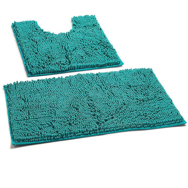2 piece Bathroom Rugs Set Chenille Microfiber Non Slip Bath Shower Mat фото