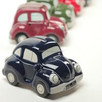 Custom car shaped decorative saving coin ceramic money bank