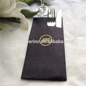 disposal colored airlaid paper napkins with pocket ,cloth- like dinner pocket napkins