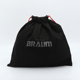 Promotional 220gsm black soft twill cotton drawstring shoe bag