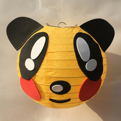 3-24 Inch Wholesale Eco-friendly Multi-colored animal shaped paper lantern