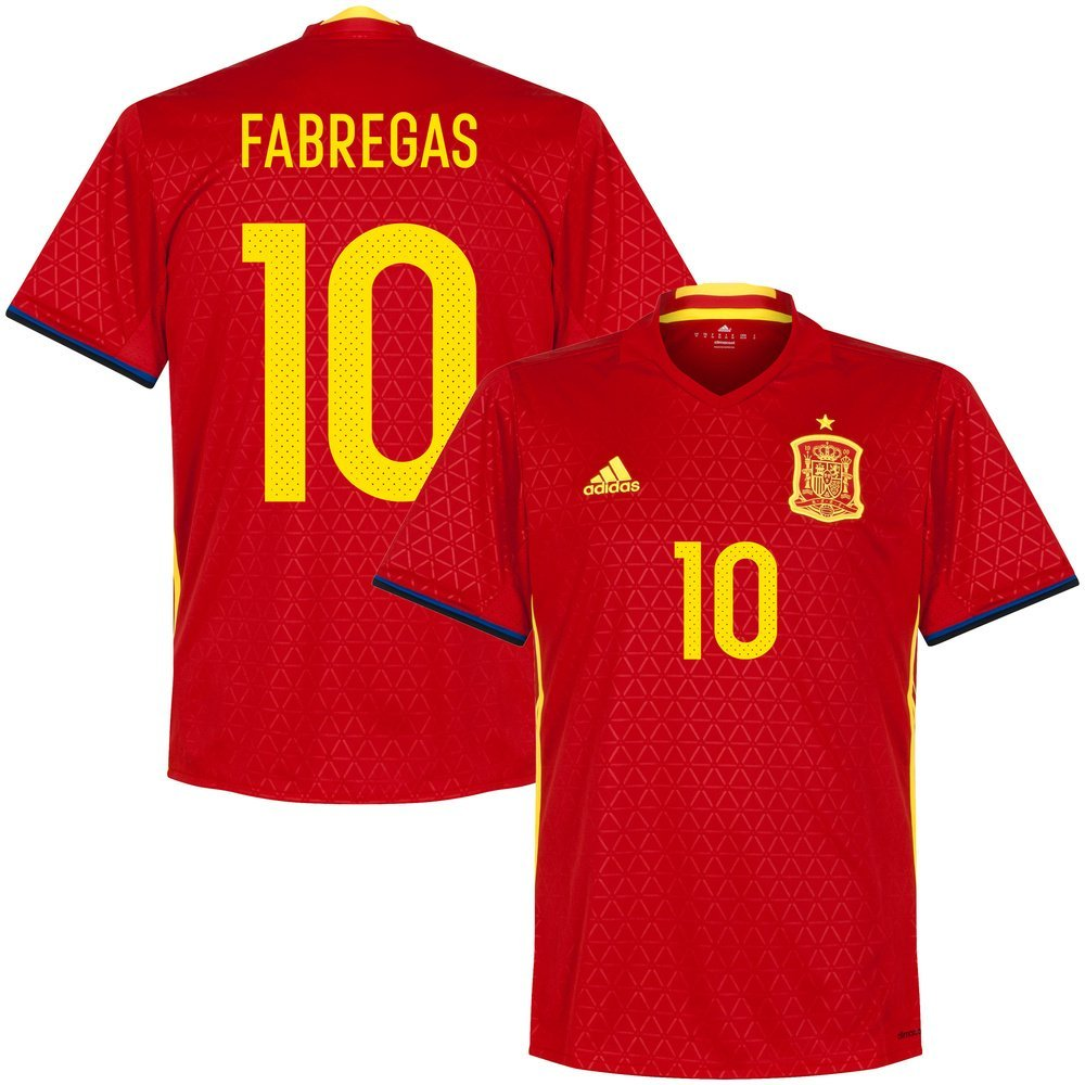 248cdf00d Get Quotations · Spain Home Fabregas Jersey 2016   2017 (Official Printing)