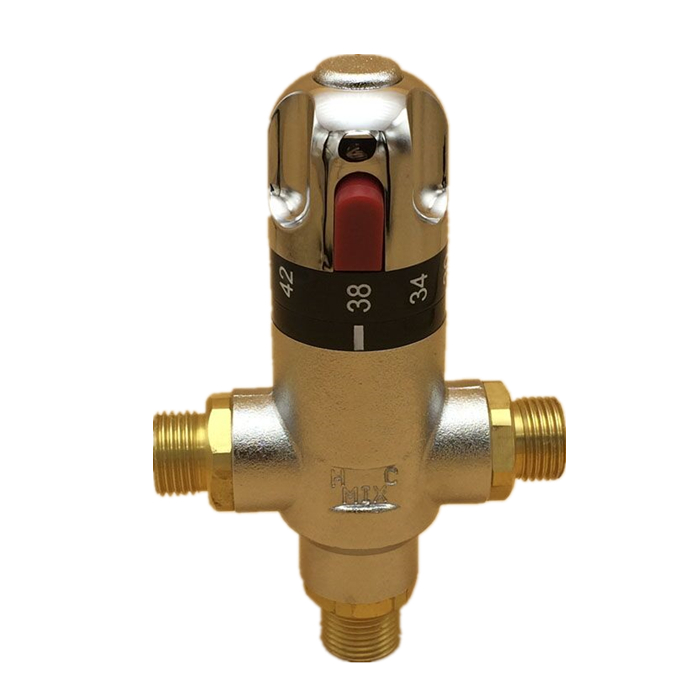 Brass Water Temperature Control <strong>Valve</strong> Solar Shower Thermostatic Mixing <strong>Valve</strong>