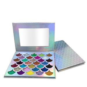Beautiful Cosmetic Makeup Make Your Own Logo 32 Colors Glitter Mermaid Eyeshadow Palette