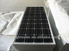 price per watt india mono panel solar 130w with TUV,CE,IEC,ISO