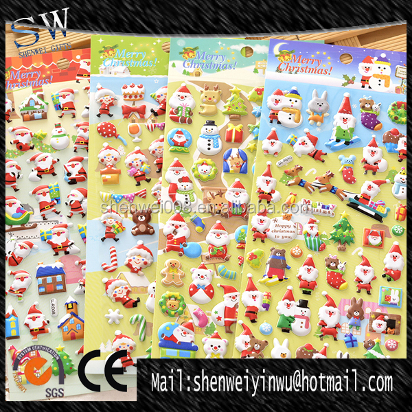 wholesale 3d christmas foam sticker