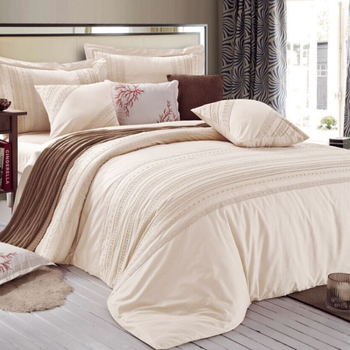 Hotel Linen 400t Cheap Bed Sheets Embroidery 100 Cotton Bedding Set