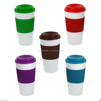 New Thermal Insulated Cup Coffee Tea Plastic Travel Mug 16 Oz Double Wall Java Tumbler Cups Walled
