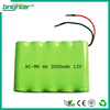 SGS CE ISO complied manufacturer battery pack 12v nimh battery
