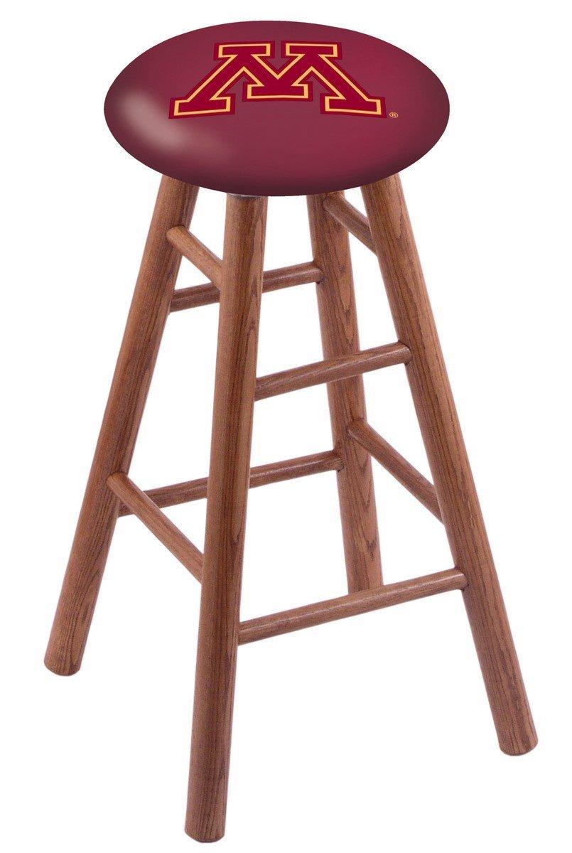 Oak Vanity Stool in Medium Finish with Minnesota Seat by Holland Bar Stool Co.