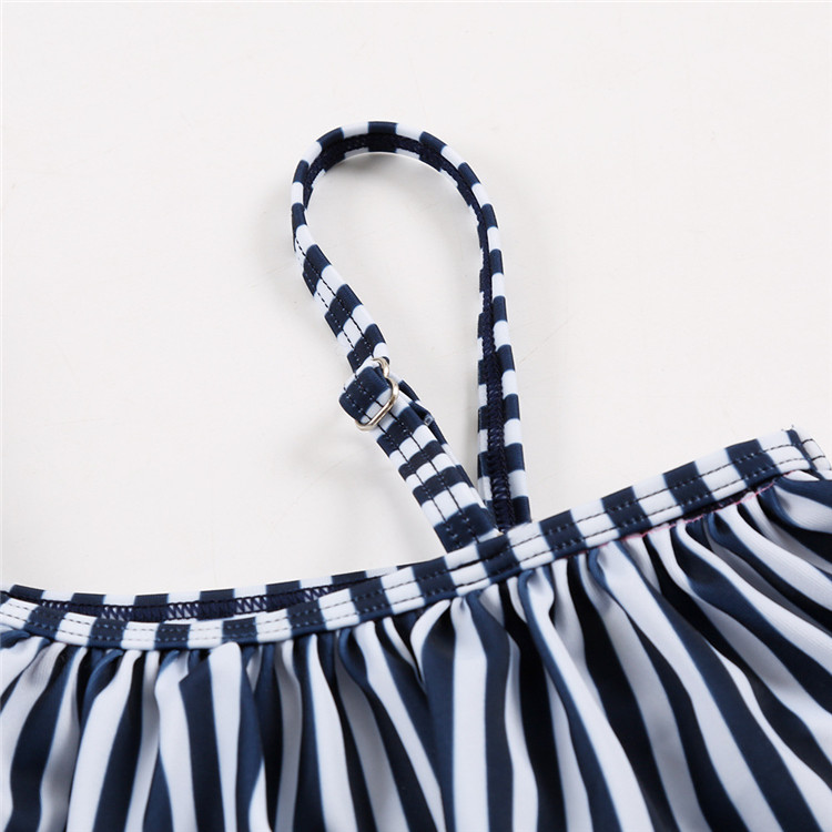 One Piece swimwear for kids girls Child frill Swimsuit baby girl Infant off shoulder Bathing Suit