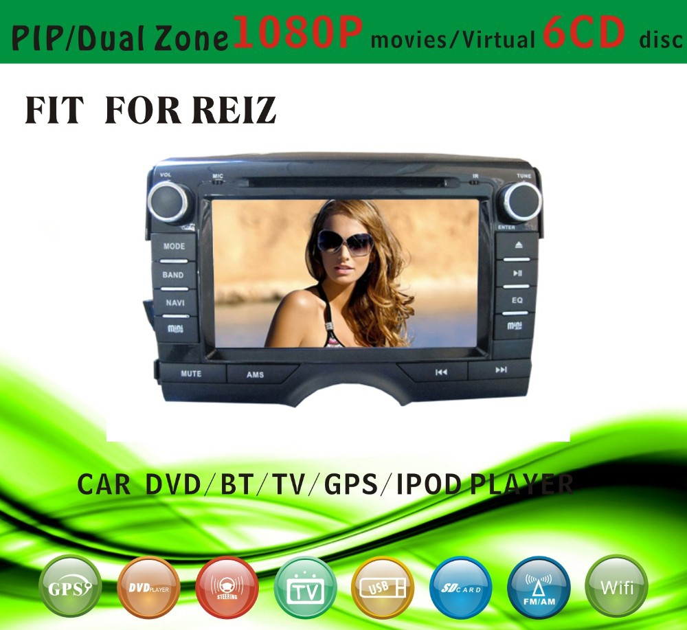 gps software for car stereofit for Toyota Reiz 2011 with radio bluetooth gps tv pip dual zone