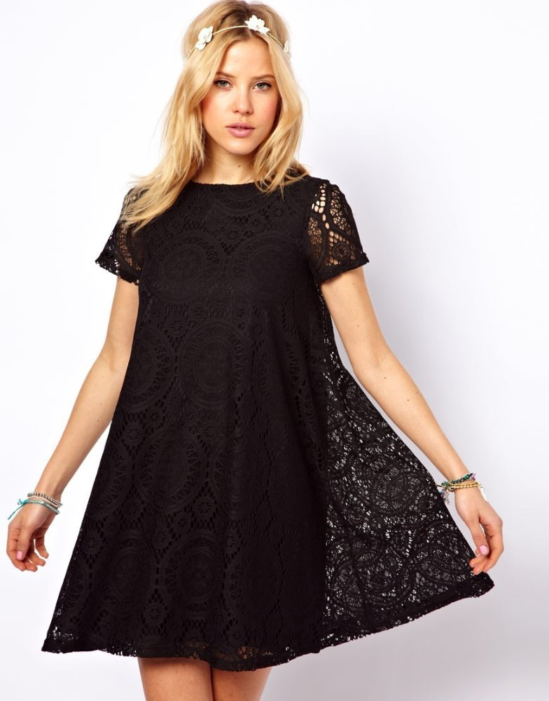 Knee Length Short Lace Dress, Knee Length Short Lace Dress ...