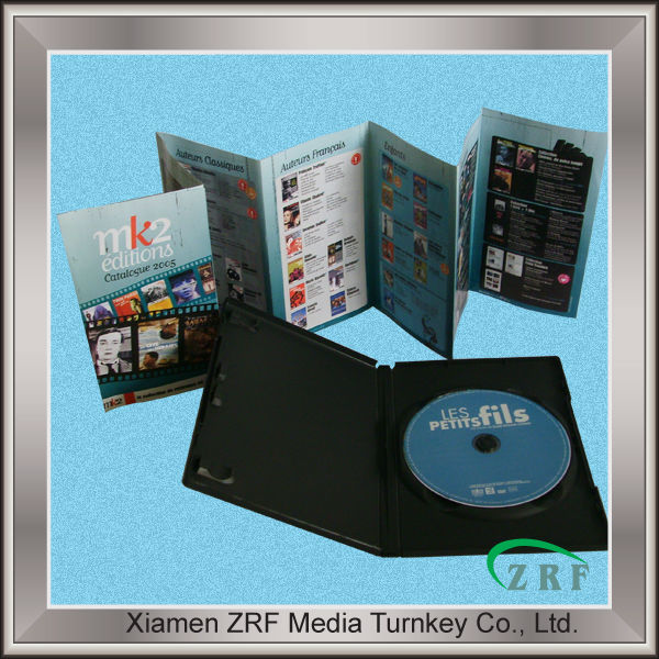 CD Packaging with Paper Booklet in 14mm DVD Case