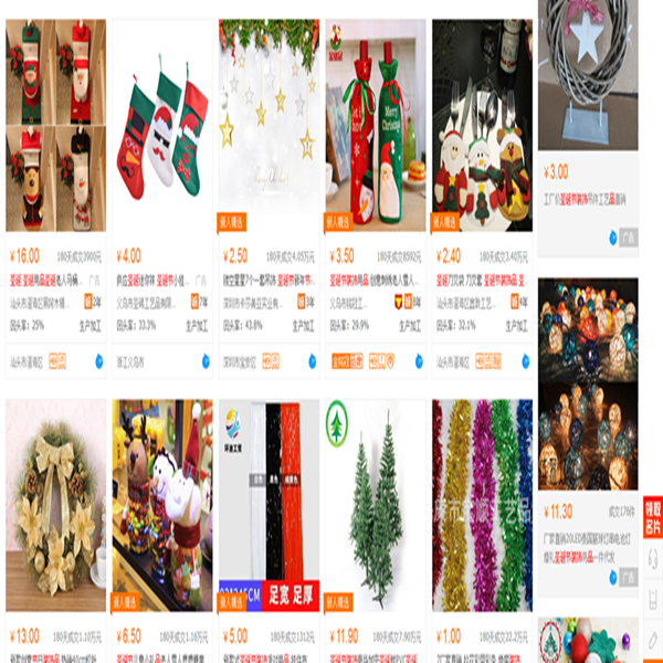 Christmas decorations buying agent service in China