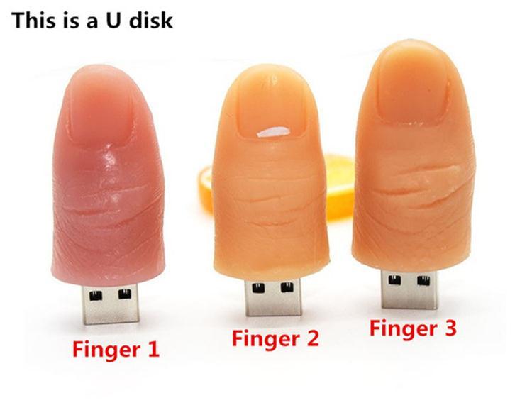 high quality PVC Soft Rubber thumb 8 gb 32gb finger shaped usb flash drive with gift box