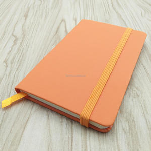 Office and school stationery PU leather notebook custom a7 / a6/ a5 printing lines with elastic band