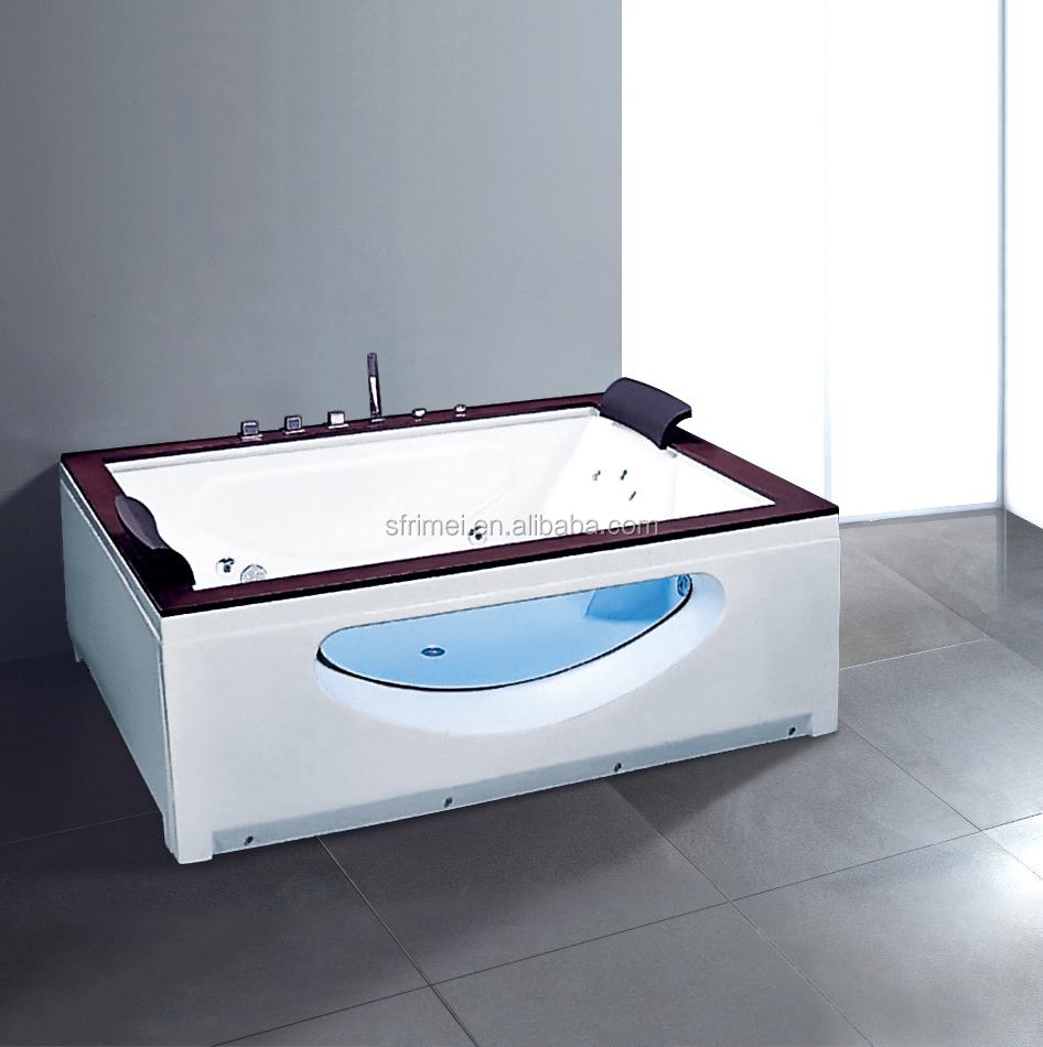 Bathroom Hot Sell Freestanding Whirlpool Bathtub Two Person Tub