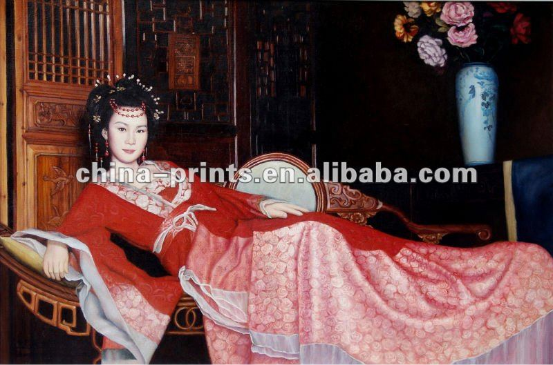 Oriental Eastern Woman Oil Printings/Portrait Canvas Wall Paintings/Woman Photograph Paint on Canvas