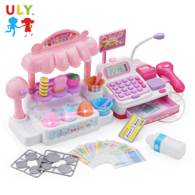 Wholesale funny pretend role play education cash register toy