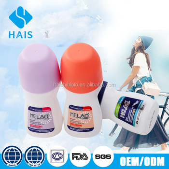 Factory low promotion price 50ml deodorant glass roll on bottle of deodorant roll on