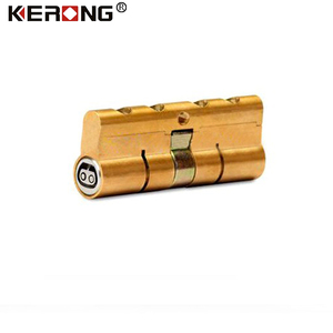 Smart cylinder lock core with cryptographic key