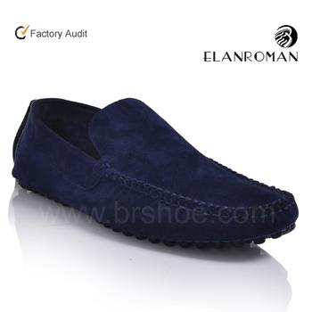 0f2ac05b2 Высокое качество синие замшевые туфли мужские Мокасины Мужская обувь без  шнурков ботинки