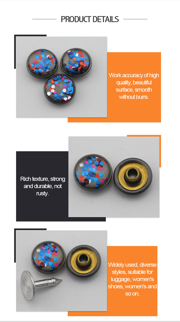 Fashion custom colorful jean metal rivet for clothes