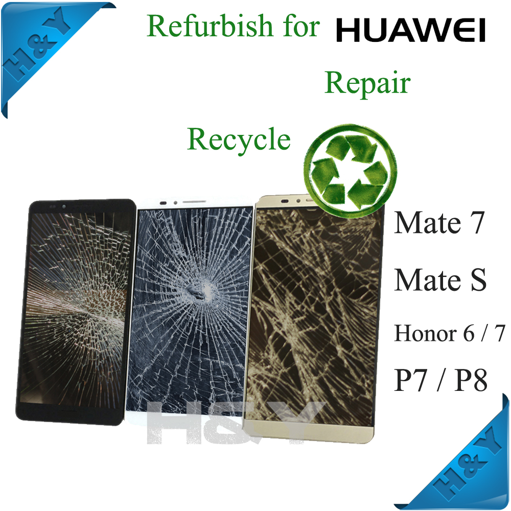 Broken LCD Screen repair For samsung galaxy S6 EDGE s7 LCD screen refurbish service, test by mobile phone motherboard