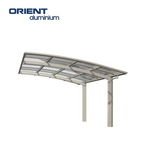 aluminium car awning with simple design- factory price for sunshade garage-double shed
