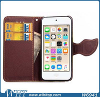 for iPod Touch 6 Case Leather Flip Wallet Luxury Cell Phone Accessories
