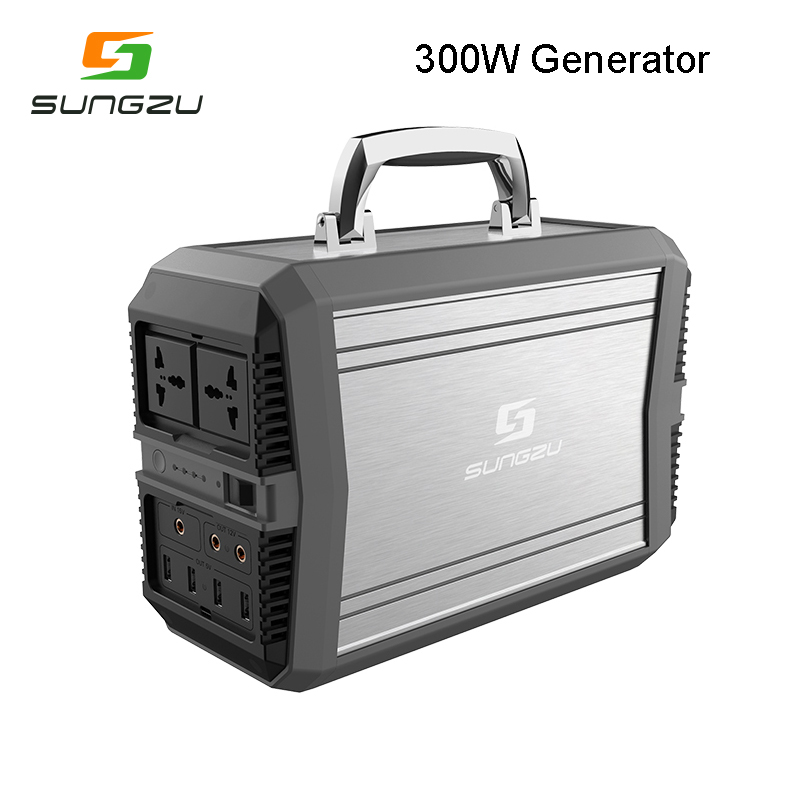 2018 New Solar Generator Portable Backup Battery 1000W Pure Sine Wave with AC and DC Output