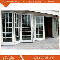 YY Home aluminium folding door grill/design door and window