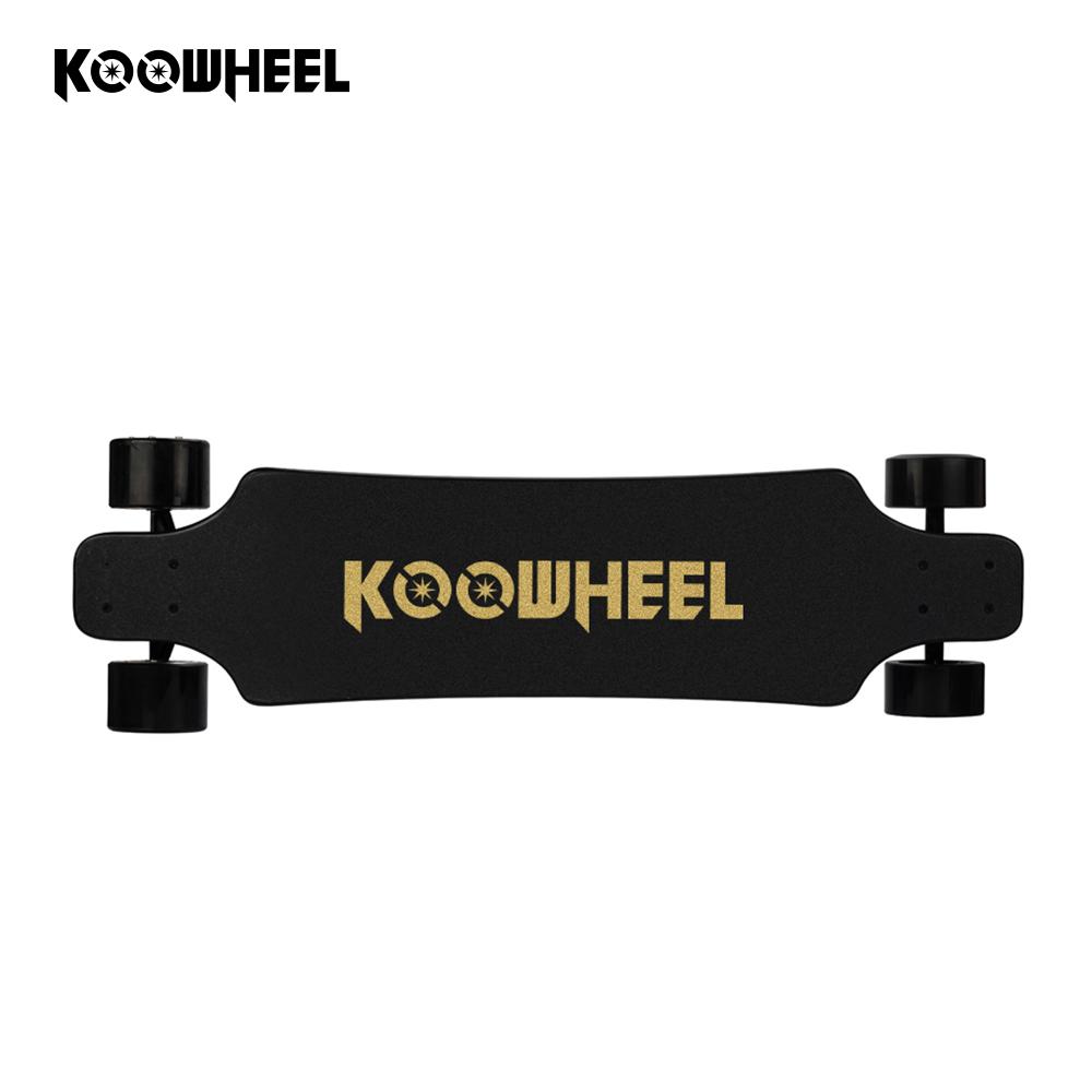 Kooboard battery powered operated automatic skateboard 4 wheel electric scooter longboard kit for sale, Black;red;blue;green;orange;white