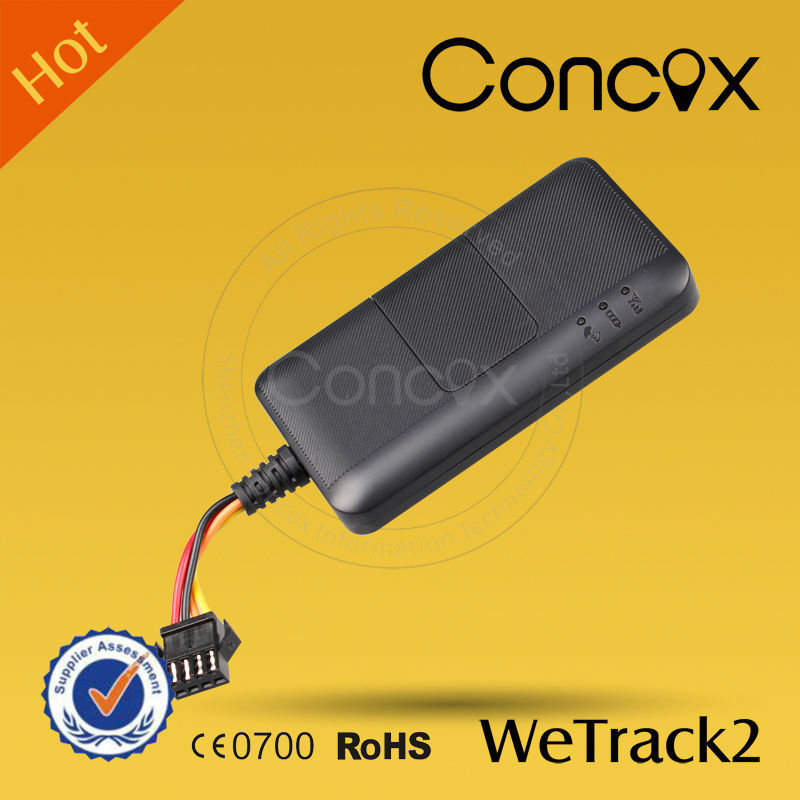Concox Top 10 Waterproof Samllest WeTrack2 GPS Quad-band Tracker with Vibration Alarm Bike mini gps gsm tracker