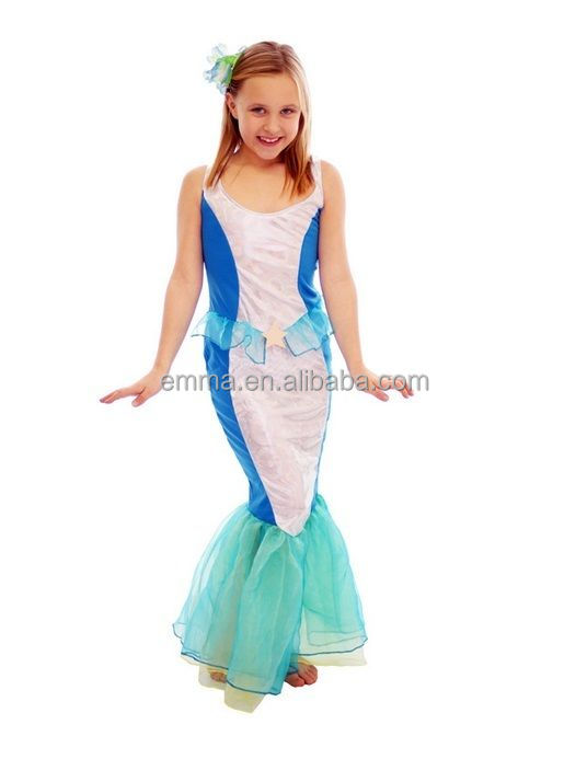 Girl's Mermaid Ariel Fairytale Princess Fancy Dress Costume Outfit for Kids Child BC17132