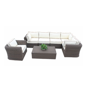 Cheap new design living room sofas rattan sofa set